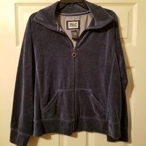 Everlast soft felt feel full zip sweater size xl
